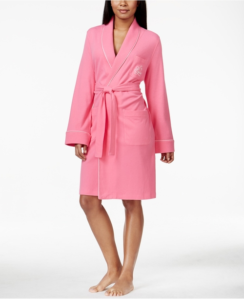 Quilted Shawl Collar Short Robe by Lauren Ralph Lauren in Sixteen Candles