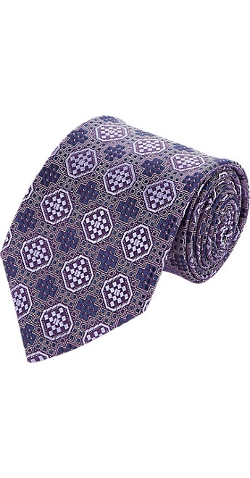 Medallion Neck Tie by Ermenegildo Zegna in Unfinished Business