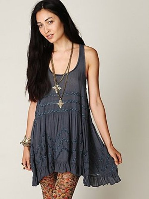 Voile And Lace Trapeze Slip Dress by Free People in That Awkward Moment