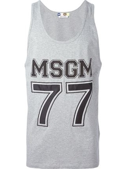Logo Print Tank Top by MSGM in Valentine's Day