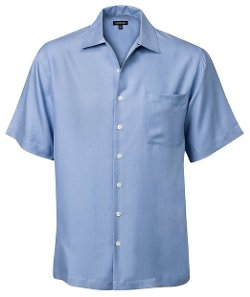 Short-Sleeve Silk Shirt by J. Peterman in Furious 7