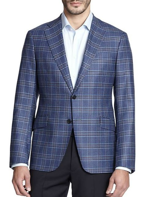 Windowpane Sportcoat by Armani Collezioni in Rosewood - Season 1 Episode 1