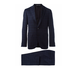 Checked Suit by Canali in The Boss