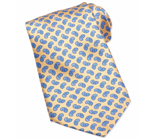 Neat Paisley Pattern Silk Tie by Stefano Ricci in Ballers