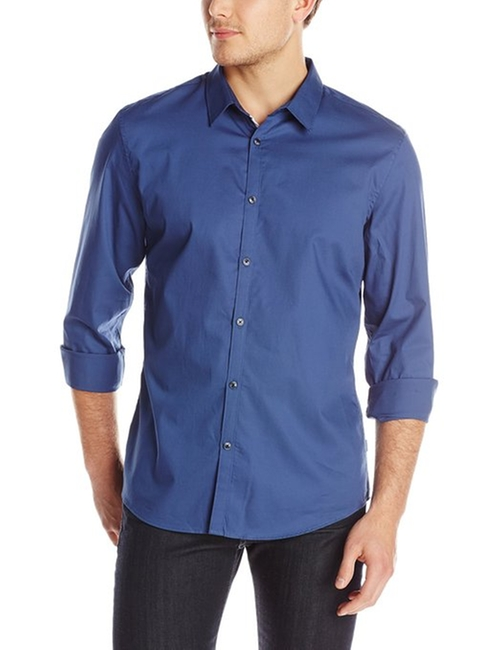 Long Sleeve Woven Shirt by Calvin Klein in Sex and the City