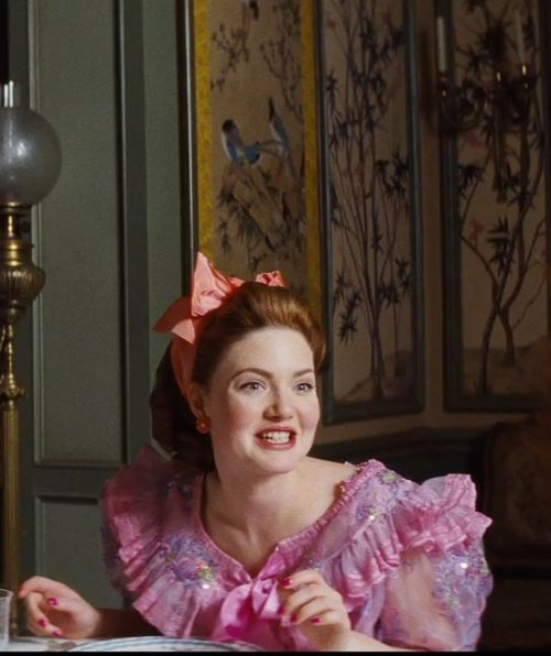 Custom Made Pink Ruffled Dress (Anastasia) by Sandy Powell (Costume Designer) in Cinderella