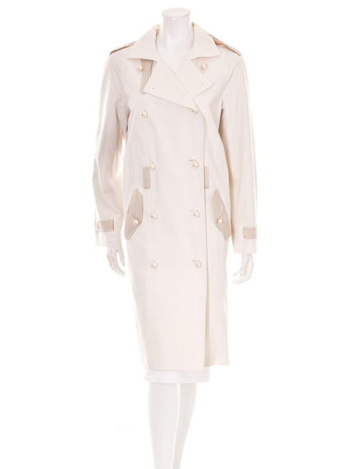 Pearl Trench Coat by Yves Saint Laurent in Empire - Season 2 Episode 9