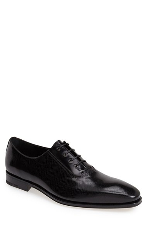 Nikol 2 Perforated Leather Oxford Shoes by Salvatore Ferragamo in Entourage