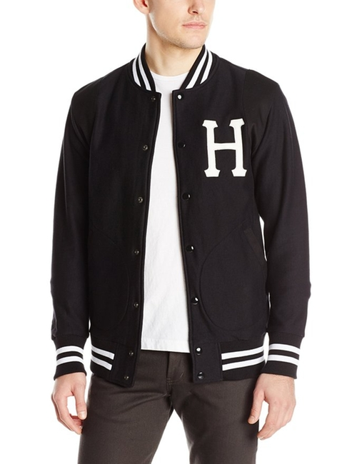 Classic H Fleece Varsity Jacket by HUF  in Barbershop: The Next Cut