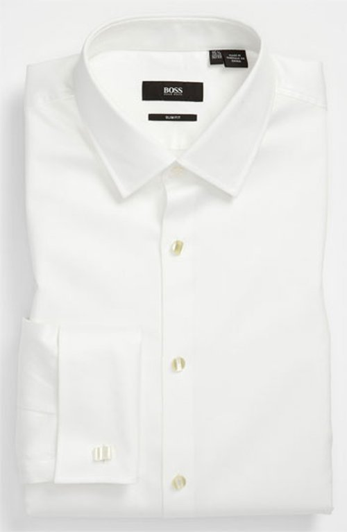 Jameson Slim Fit Tuxedo Shirt by Boss Hugo Boss in The Boy Next Door