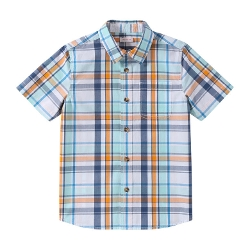 Kid Boys' Plaid Short Sleeve Shirt by Joe Fresh in Sinister 2