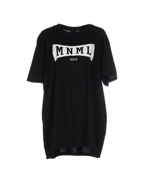 Crew Neck T-Shirt by Mnml Couture in The Heat