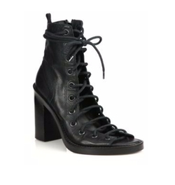 Lace-Up Leather Sandals by Ann Demeulemeester in Fuller House