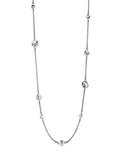 Palu Silver Disc Stations Sautoir Necklace by John Hardy in Scandal