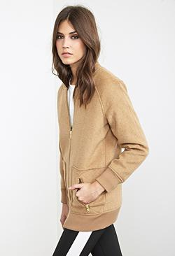 Classic Bomber Jacket by Forever21 in No Strings Attached