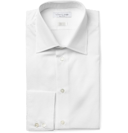 White Cotton-Poplin Shirt by Richard James in Barely Lethal