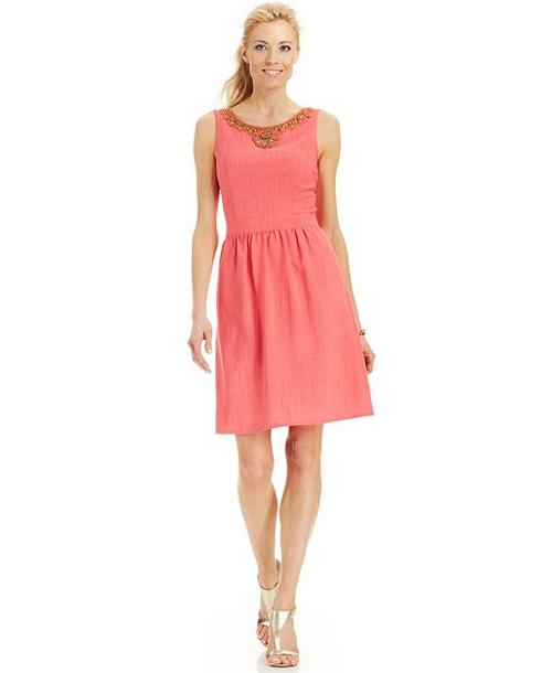 Sleeveless Bead-Trim Dress by Ellen Tracy in What If