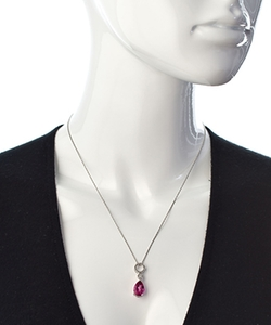 Teardrop Pendant Necklace by Viducci in Suits