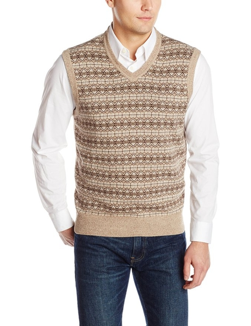 Men's Fair Isle Vest by Dockers in The Big Bang Theory - Season 9 Episode 5