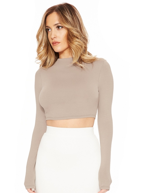 The NW Crop Top by Naked Wardrobe in Keeping Up With The Kardashians - Season 12 Episode 3