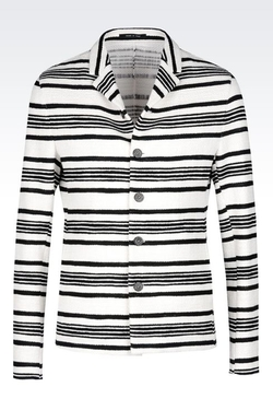 Runway Jacket In Striped Cotton by Armani in We Are Your Friends