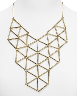 Mindy Geo Bib Necklace by Aqua in The Flash