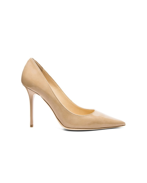 Women's Gold Abel Patent Leather Pumps by Jimmy Choo in Suits - Season 5 Episode 3