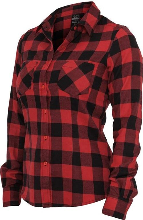 Women's Checked Flannel Long Sleeve Shirt by Urban Classics in We're the Millers
