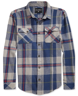 Coldfront Plaid Flannel Shirt by Billabong in Love & Mercy