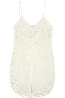 Lace-trimmed silk-georgette camisole by ROBERTO CAVALLI in Vampire Academy