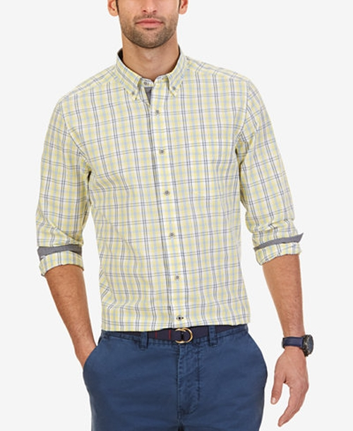 Lemonade Plaid Long-Sleeve Shirt by Nautica in Brooklyn
