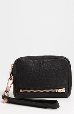 'Fumo' Leather Wristlet Bag by Alexander Wang in Elementary
