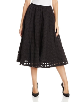 Cotton Metal Fit and Flare Skirt by Tracy Reese in Love the Coopers