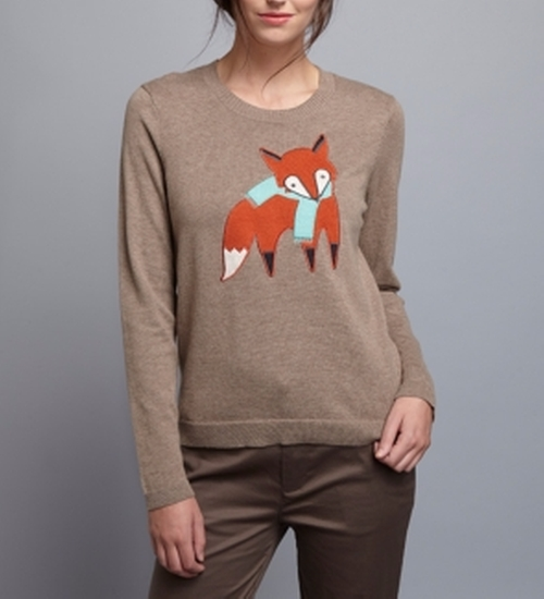 Too Foxy Sweater by Brooklyn Industries in Unbreakable Kimmy Schmidt - Season 3 Episode 6