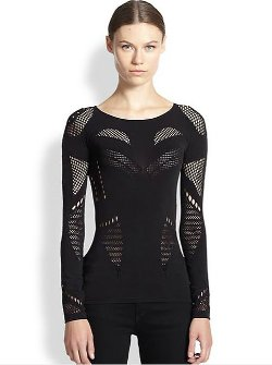Long-Sleeve Mesh Top by McQ Alexander McQueen in The Divergent Series: Insurgent