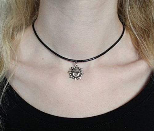 Sun Choker Necklace by Dad in Pretty Little Liars - Season 6 Episode 4