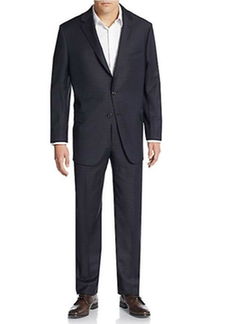 Tonal Plaid Worsted Wool Suit by Hickey Freeman in The Flash