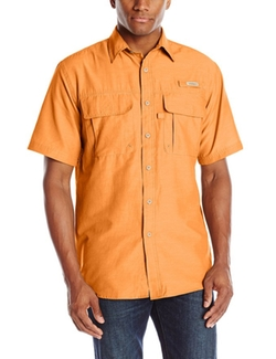 Short Sleeve Solid Explorer Button Up Shirt by GH Bass in The Big Lebowski