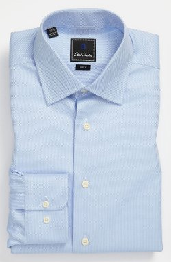Royal Oxford Trim Fit Dress Shirt by David Donahue in That Awkward Moment