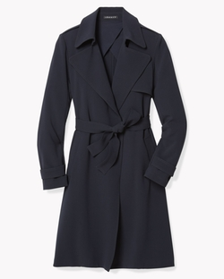 Soft Crepe Trench Coat by Theory in How To Get Away With Murder