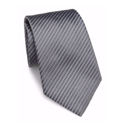 Thin Striped Silk Tie by Armani Collezioni in Quantico