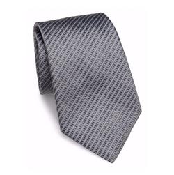 Thin Striped Silk Tie by Armani Collezioni in Quantico