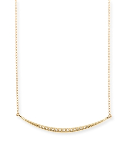 Medium Horizontal Icicle Necklace with Diamonds by Mizuki in Blackhat