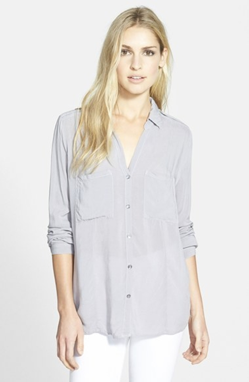 Button Down Challis Shirt by Velvet by Graham & Spencer in Cut Bank