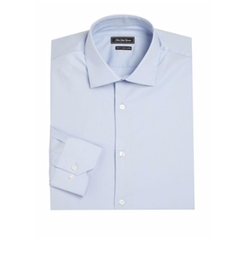 Trim Fit Dress Shirt Cotton Shirt by Saks Fifth Avenue Collection in How To Get Away With Murder