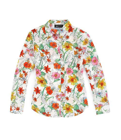 Botanical Floral Blouse by Jones New York Collection in Blended