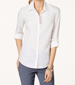 Tab-Sleeve Shirt by Charter Club in Suits