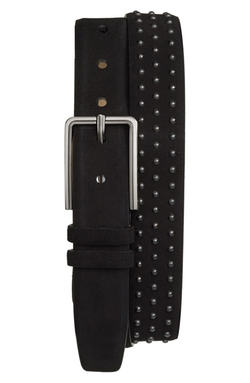 Studded Suede Belt by Mezlan in Empire