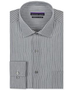 Non-Iron Grey Stripe Dress Shirt by Geoffrey Beene in Hot Tub Time Machine 2