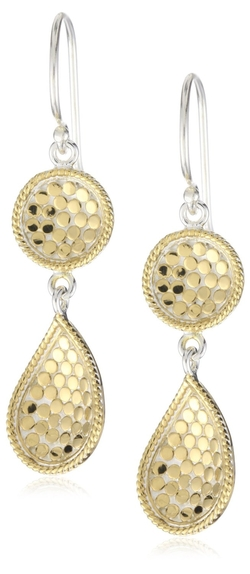 Double-Drop Earrings by Anna Beck Designs in Burnt